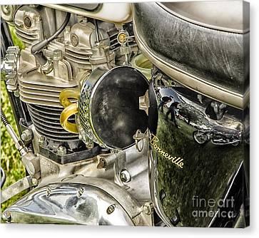 Canvas Print featuring the photograph Triumph Bonneville by JRP Photography
