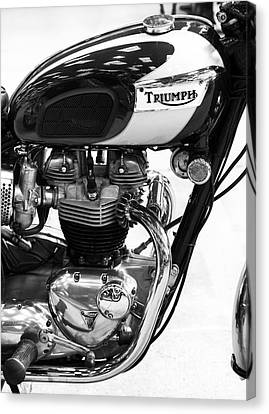 Triumph Bonneville Canvas Print by Tim Gainey