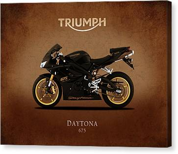 Triumph Daytona 675 Canvas Print by Mark Rogan