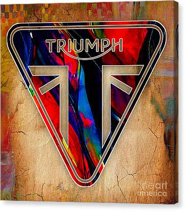 Motorcycle Canvas Print - Triumph Motorcycle by Marvin Blaine