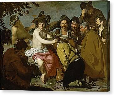 Triumph Of Bacchus, 1628 Oil On Canvas Canvas Print by Diego Rodriguez de Silva y Velazquez