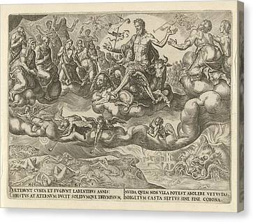 Triumph Of Christ Or The Eternity, Philips Galle Canvas Print by Philips Galle And Hadrianus Junius