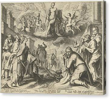 Wine Scene Canvas Print - Triumph Of Truth by Possibly Nicolaes Jansz. Clock