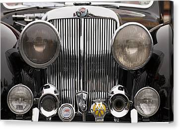 Triumph Roadster Front End Color Canvas Print by Scott Campbell