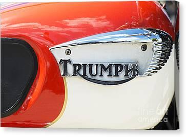 Triumph Tiger 90 Tank Badge Canvas Print by Tim Gainey