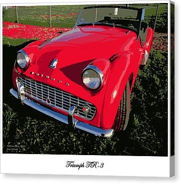Triumph Tr-3 Canvas Print by Don Struke
