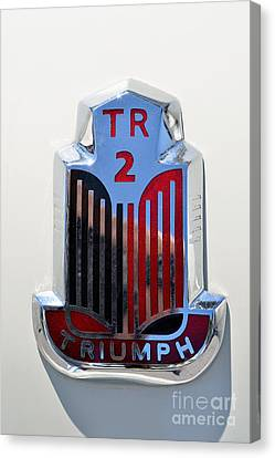 1954 Triumph Tr2 Badge Canvas Print