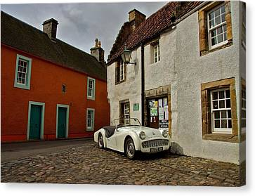 Canvas Print featuring the photograph Triumph Tr3 by Stephen Taylor