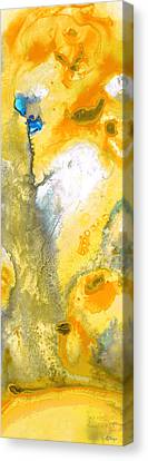 Triumph - Yellow Abstract Art By Sharon Cummings Canvas Print by Sharon Cummings