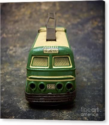 Trolley Bus Toy Canvas Print by Bernard Jaubert