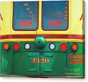 Trolley Car - Digital Art Canvas Print by Robyn King