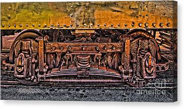 Trolley Train Details Canvas Print by Susan Candelario