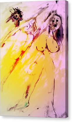 Luminous Body Canvas Print - Whenever You Accept A Real Cat Fight, You Get Kicked   by Hilde Widerberg