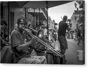 Trombone In New Orleans 2 Canvas Print by David Morefield