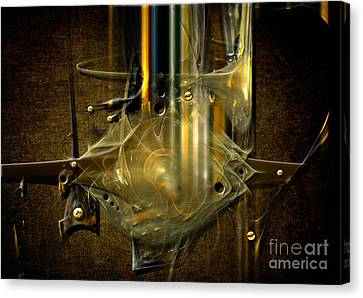 Canvas Print featuring the digital art Trombone Machine by Alexa Szlavics