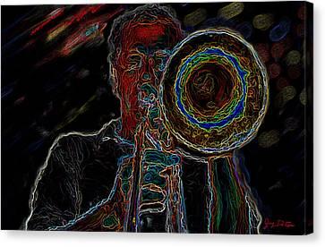 Trombone Player Canvas Print