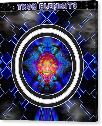 Tron Canvas Print - Tron Elements by Mario Carini