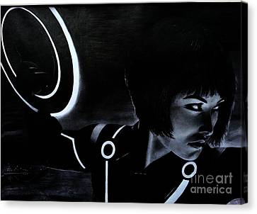Tron Canvas Print by Gil Fong