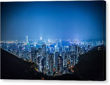 Marvelous View Canvas Print - Tron Kong by Mike Lee