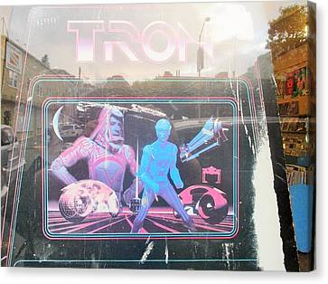 Tron Video Game - Side Cabinet View Canvas Print by David Lovins
