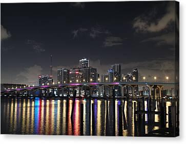 Trooper Bridge Miami Canvas Print by Gary Dean Mercer Clark