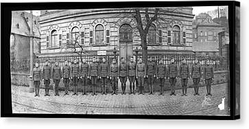 3rd Corps Canvas Print - Troops In Front Of Hdqrs. 3rd Corps by Fred Schutz Collection