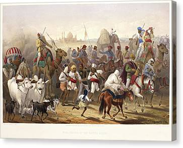 Troops Of The Native Allies Canvas Print by British Library