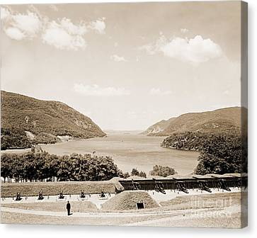 Trophy Point North Fro West Point In Sepia Tone Canvas Print