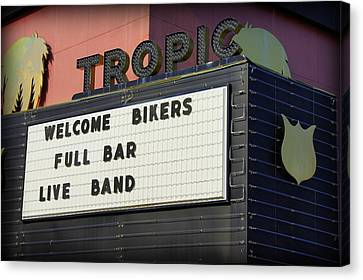 Tropic Theatre Canvas Print by Laurie Perry