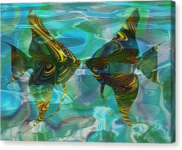 Tropical Angel 2 Canvas Print by Jack Zulli