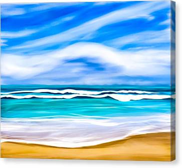 Tropical Beach Dreams - Caribbean Sea Canvas Print by Mark E Tisdale
