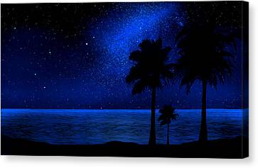 Tropical Beach Wall Mural Canvas Print by Frank Wilson