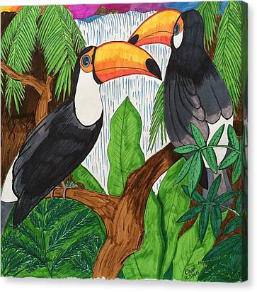 Toucans Canvas Print by Ethan Altshuler
