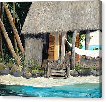 Canvas Print featuring the painting Tropical Breeze by Alan Lakin