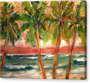 Patricia Taylor Canvas Print - Tropical Color With Palm Trees by Patricia Taylor