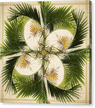 Flowers Miami Canvas Print - Tropical Design by Carol Leigh