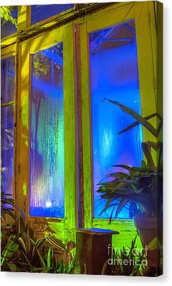 Tropical Door Canvas Print by Darleen Stry