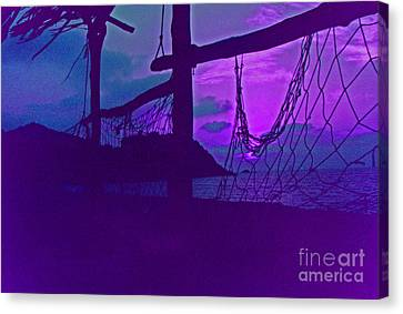 Tropical Dusk Canvas Print by First Star Art