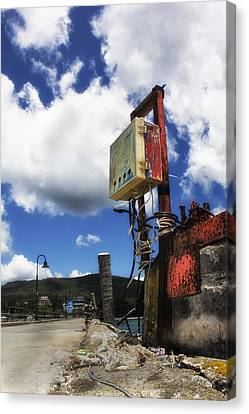 Tropical Electricity Box Canvas Print by Mark Kreuiter