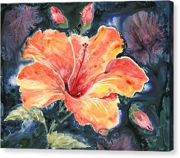Tropical Explosion Canvas Print by Marsha Elliott
