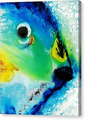 Tropical Fish 2 - Abstract Art By Sharon Cummings Canvas Print by Sharon Cummings