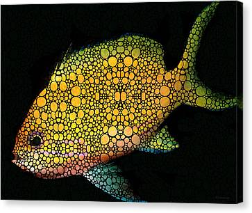Tropical Fish Art 14 By Sharon Cummings Canvas Print by Sharon Cummings
