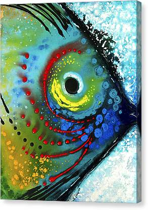 Sea Canvas Print - Tropical Fish - Art By Sharon Cummings by Sharon Cummings