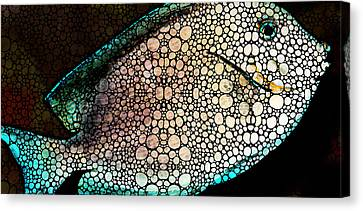 Tropical Fish - Ocean Deep Dive Canvas Print by Sharon Cummings