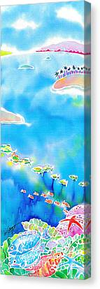 Tropical Fishes Canvas Print by Hisayo Ohta