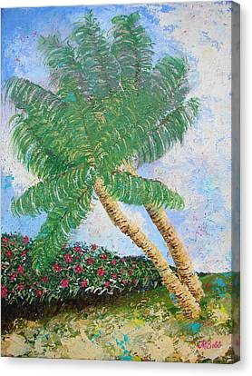 Canvas Print featuring the painting Tropical Flair by Margaret Bobb