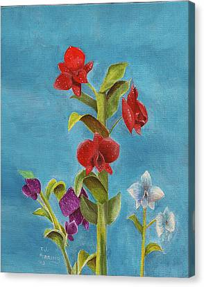 Canvas Print featuring the painting Tropical Flower by Thomas J Herring