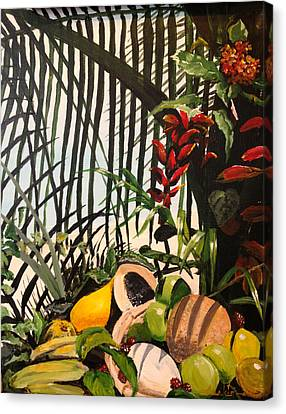 Canvas Print featuring the painting Tropical Fruit by Alan Lakin