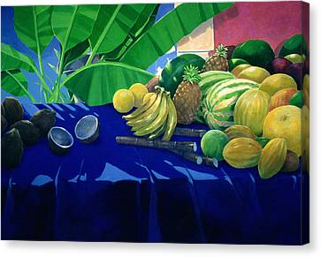 Mango Canvas Print - Tropical Fruit by Lincoln Seligman