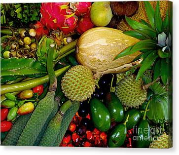 Tropical Fruits Canvas Print by Carey Chen